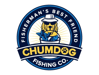 Chumdog Fishing Co. logo design