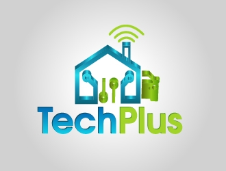 TechPlus logo design