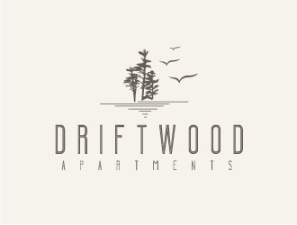 Driftwood Apartments logo design