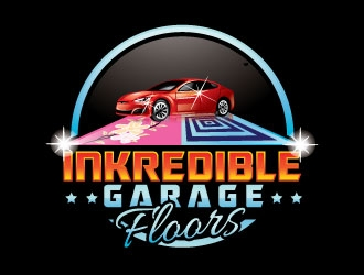 Inkredible Floors (main company) - Logo: Inkredible Garage Floors logo design
