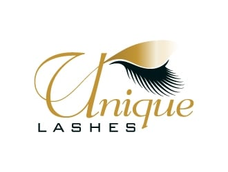 UNIQUE LASHES logo design