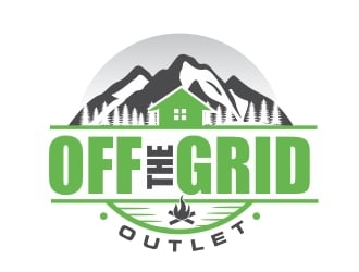 Off The Grid Outlet logo design