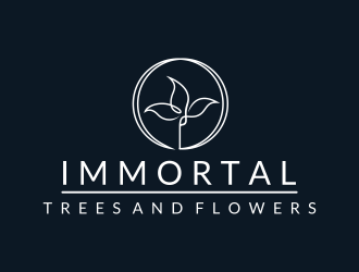 IMMORTAL Trees and Flowers logo design