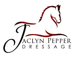 Jaclyn Pepper Dressage logo design