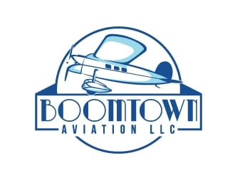 Boomtown Aviation LLc logo design