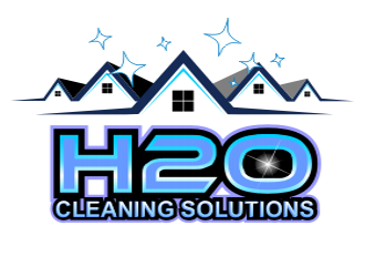 H2O Cleaning solutions logo design