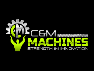 C&M Machines logo design