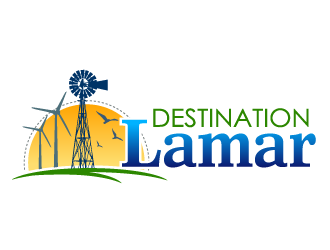 Destination Lamar logo design