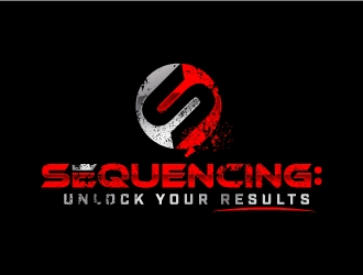 SEQUENCING: Unlock your results logo design