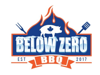 Below Zero BBQ  logo design