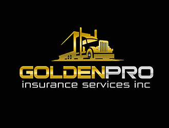 golden pro insurance services inc logo design