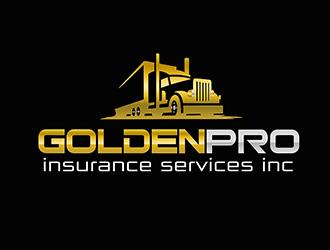 golden pro insurance services inc logo design