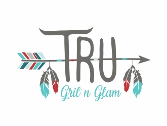 TRU Grit n Glam logo design