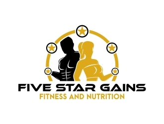 FIVE STAR GAINS logo design