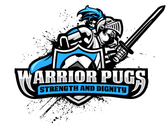 Pug Warriors  logo design