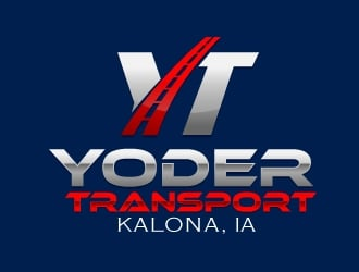 Yoder Transport logo design