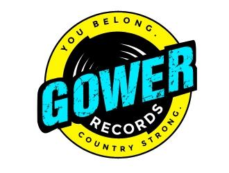 Gower Records logo design