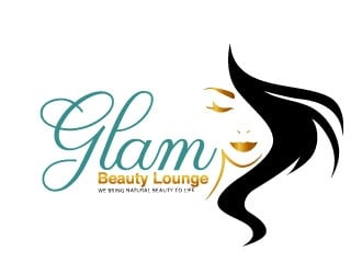 Glam Beauty Lounge Slogan is We Bring Natural Beauty to Life logo design
