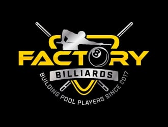 Factory Billiards logo design