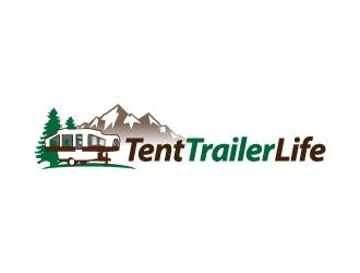Tent Trailer Life logo design