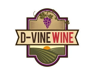 D-Vine Wine logo design