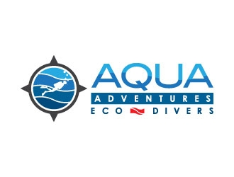 Aqua Adventures  ( eco divers optional ) logo design
