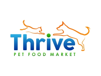 Thrive Pet Food Market logo design