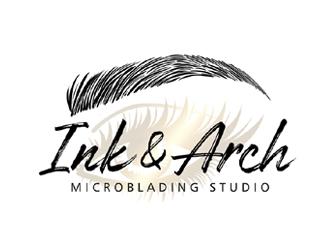 Ink & Arch Microblading Studio logo design