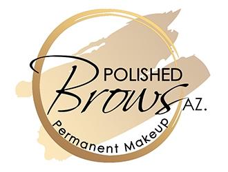 Polished Brows. Permanent Makeup logo design