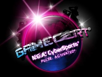 GAMECERT® NGA® CyberSports® logo design