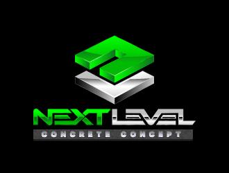 Next Level concrete concepts logo design