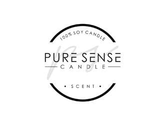 Pure Sense Candle logo design
