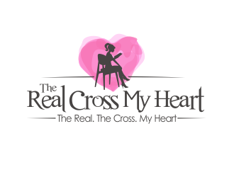 The Real Cross My Heart (tagline: The Real. The Cross. My Heart.) logo design