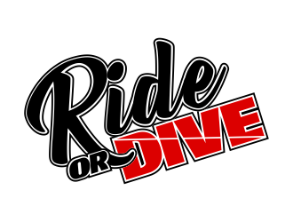 Ride or Dive logo design