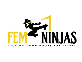 Fem Ninjas Talent Management logo design