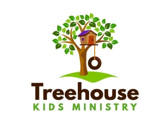 Treehouse Kids Ministry logo design