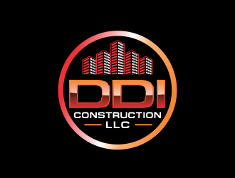 DDI CONSTRUCTION, LLC logo design