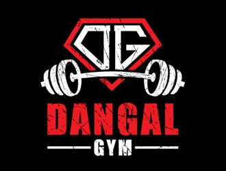 DANGAL GYM logo design