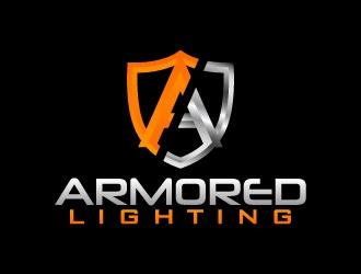 ARMORED Lighting logo design