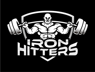iron hitters logo design