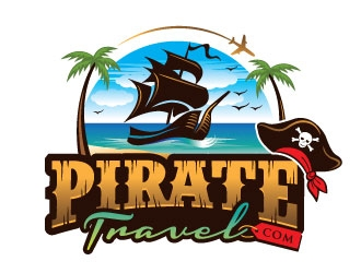 Pirate Travel logo design