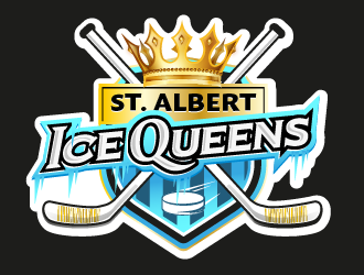 St. Albert Ice-Queens  ... OR ... St. Albert Vi-Queens logo design