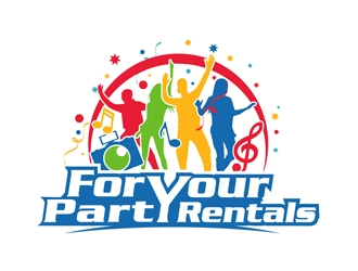 For Your Party Rentals logo design