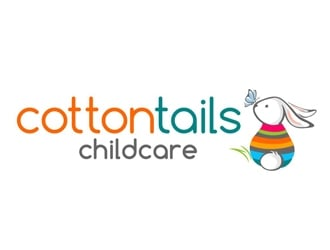 Cottontails Childcare logo design