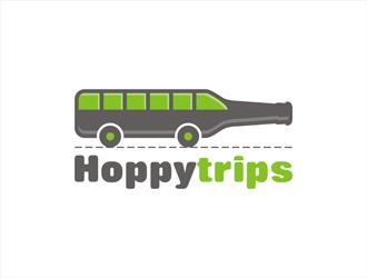 Hoppytrips logo design