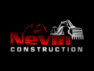 Nevin Construction logo design