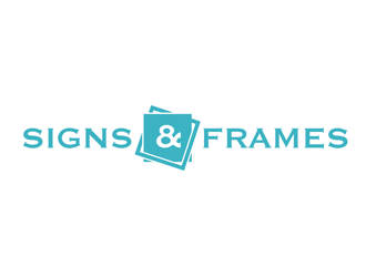 SIGNS & FRAMES logo design