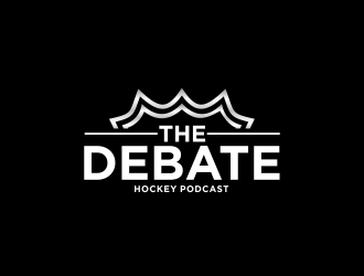 THE DEBATE - Hockey Podcast logo design