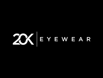 20K EYEWEAR logo design