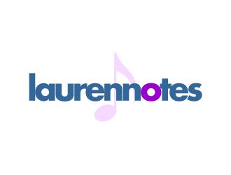 Laurennotes logo design
